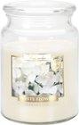 Svíčka vonná - sklo s pokl. 500 g, bílé květy