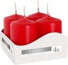 Svíčka adventní 60 g - 4 ks, červená