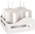 Svíčka adventní 60 g - 4 ks, perleť bílá