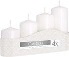 Svíčka adventní 5 x 7, 9, 11, 13 cm, 570 g - bílá