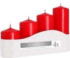 Svíčka adventní 5 x 7, 9, 11, 13 cm, 570 g - červená