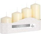 Svíčka adventní 5 x 7, 9, 11, 13 cm, 570 g - sl. kost
