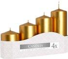 Svíčka adventní 5 x 7, 9, 11, 13 cm, 570 g - met. zlatá