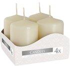 Svíčka adventní 60 g - 4 ks, sl. kost